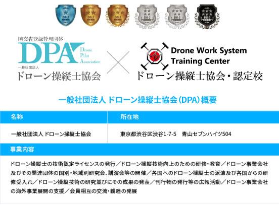 ドローンスクールいわき・仙台共にDPA認定校